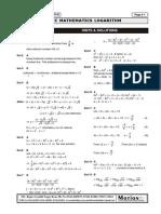Answer Key Basic Maths Logarithm