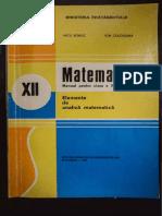 Elemente de Analiza Matematica XII 1996