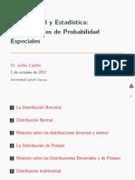 Distribuciones de probabilidad especiales
