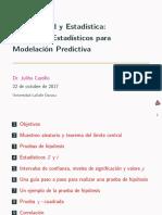 Conceptos Estadísticos para la Modelación Predictiva