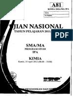 Naskah Soal UN Kimia SMA 2012 Paket A81