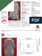 LW5270 Big Comfy Sweater Free Knitting Pattern