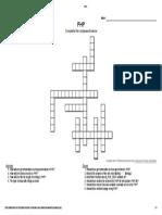 PHP Crossword