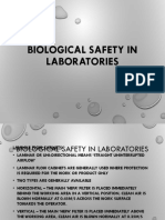 Biological Safety in Laboratorie
