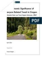 The Economic Significance of Bicycle-Related Travel in Oregon Detailed State and Travel Region Estimates 2012
