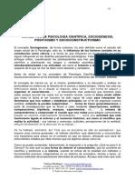 Conceptos de Psicologia Cientifica Sociogenesis Positivismo y Socioconstructivismo