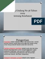 Undang-Undang No 36 Tahun 2009
