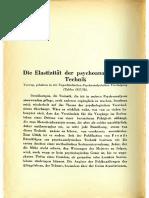 Sándor Ferenczi - Die Elastizität Der Psychoanalytischen Technik (1928)