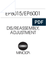 Minolta EP8015/EP6001 SERVICE MANUAL