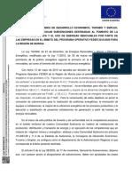 Orden de 28 de Marzo de 2017 de La Consejería de Desarrollo Económico Turismo y Empleo