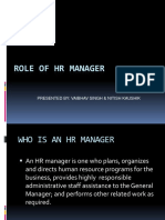 100435182 Role of HR Managers