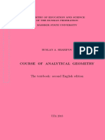 Ruslan A. Sharipov Course of analytycal geometry, Ministry of Education and Science of the Russian Federation.pdf