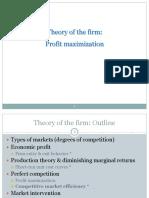 Theory of Profit
