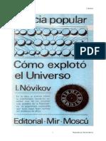 Como Exploto El Universo I Novikov