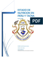 Estado Nutricional en Peru y Tacna
