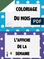 Affiches de Classe Coloriage Materiel Affiche