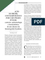 Formação Do Brasil Contemporâneo Contexto Epistemologia e Hermeneutica PDF