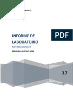 Informe de Analisis- Laboratorio