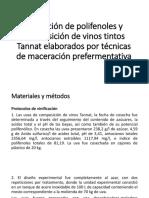 Extracción de Polifenoles y Composición de Vinos Tintos
