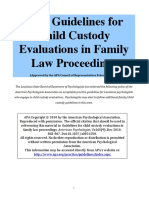 APA Guidelines for Child Custody Evaluations in Family Law Proceedings