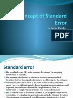 Concept of Standard Error