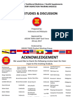 ASEAN TMHS GMP Training - Case Studies _ Discussion Answer Final