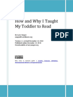 How and Why I Taught My Toddler to Read