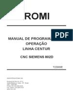Manual de Programação e Operação Linha Centur - T22909E