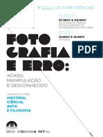 Ciclo de conferências Fotografia e Erro (Lisboa e Porto)