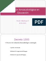 Evaluación Fonoaudiológica en Educación