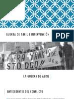 Guerra de Abril e Intervención