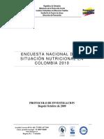 Base de Datos ENSIN - Protocolo Ensin 2010