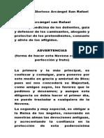 Novena al Glorioso Arcángel San Rafael.docx