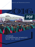 260TH Spring Commencement Brochure