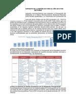 División Del Presupuesto de La República Para El Año 2014 Por Sectores