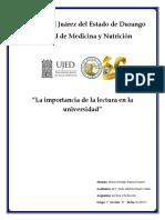 Importancia de La Lectura, Natalia Farina Romero