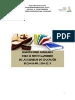 Disp. Grales . 2016-2017 Secundarias Ok