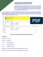 Rangkaian Dua Motor Listrik Hidup Bergantian Dengan Menggunakan Program PLC Omron