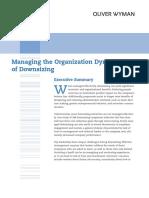 OWD Managing the Organization Dynamics of Downsizing WP 0111