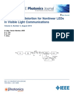 Adaptive Postdistortion for Nonlinear LEDs