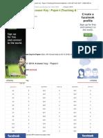 Cbse Net Dec 2014 Answer Key _ Paper-i (Teaching & Research Aptitude) _ Ugc Net Nov 2017 _ Cbse-net
