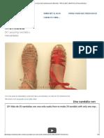 Una Sandalia Con Más de 20 Combinaciones Diferentes - RECICLADO CREATIVO Por Rosa Montesa