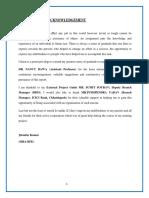 icici internship project report
