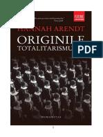 Hannah Arendt - Originile Totalitarismului [v2.0]