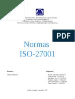 Normas ISO 27001
