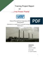 Industrialtraining report NTPC Singrauli