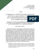 Comentarios a La Sentencia 1547-2011, Leopoldo Lopez