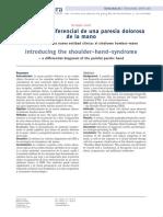 DIAGNOSTICO DIFERENCIAL DE UNA PARESIA DOLOROSA DE LA MANO