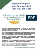 _Legislação Do Sus Para Concursos Públicos