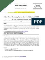 Linea de Agua, Monitoreo Zigbee